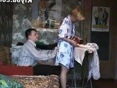 Russian mom gets banged hard at home
