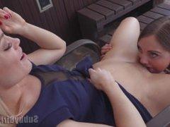 Lesbian Pussy Smoking