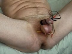 Cock & Balls Double Electro Punished to Hands Free Orgasm