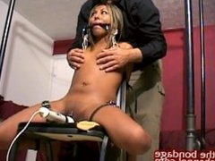 Latina Tied to Chair Orgasm