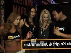 PornhubTV Jasmine Jae and Sophia Knight at 2015 AVN Awards