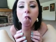 Veruca James blowjob/throatfuck