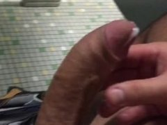 Jerking Off In Public Restroom