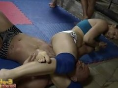 Gorgeous Girls Wrestling One Muscly Guy Msst