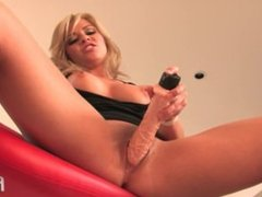Marlie Moore talks about her fantasy as she masturbates with her dildo