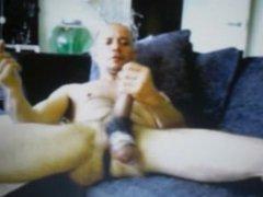 huge balls in cock ring latin dude jerking big cock