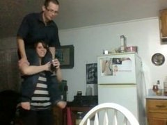 Strong Crazy Wife Shoulder carry her husband - Best Lift and Carry Webcam