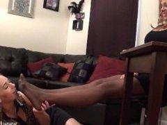 New Employee Pantyhose Foot Worship