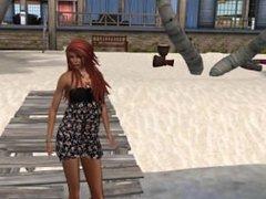 La jolie Venicie en robe de plage à Belle île en Mer