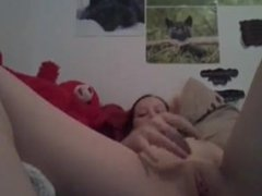 Girl on webcam anal toy