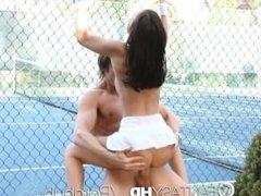 HD FantasyHD - Little Dillion Harper gets fucked on the tennis court
