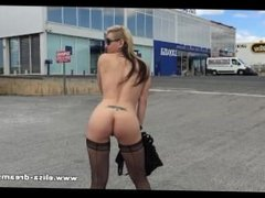 Flashing and naked in a public parking