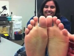 Mixed girl sexy feet tickled