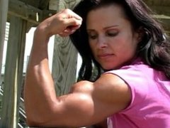 Macey Boudreau girl flexing biceps