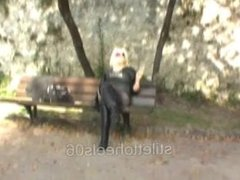 Blonde Smoking Fetish in leather boots 2