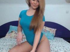 Romanian Cutie Blue Swimsuit Teasing #4