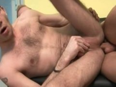 Fat cock in tight gay ass