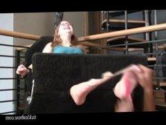 Tickle abuse - Tiniest ticklish feet