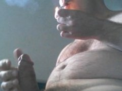 Smoking and cumming huge load