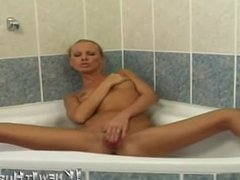 blonde pussy slut in hot bath solo scene