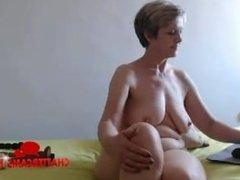 Naked Blonde MILF Bedroom Camshow