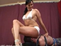 gorgeous brunette ass smothering