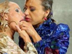 Gloryhole fisting lesbian bukkake babes