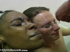 Facial cumshots for the trio