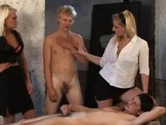 Two girls used and fucked two boys