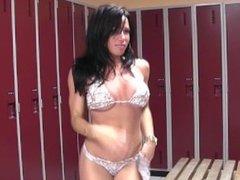 locker room striptease
