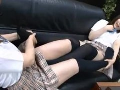 Japanese Lesbian Foot Job 1