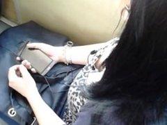 Some nice teen titties on the bus