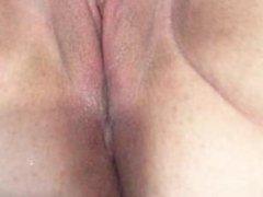 Teen Mastrubating and Cumming on Dildo