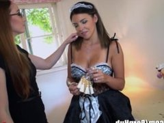 Lesbian Maid Danica Dillion Seduced by Bosses Wife