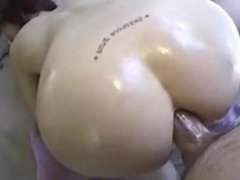 Oiled Up For Anal Sex with Big Cock