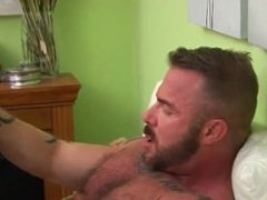 muscle daddy barebacks a boy and shoots a huge load