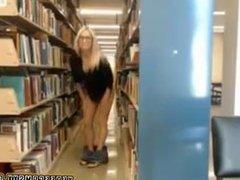 hot blond public library webcam