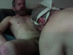 blowing load #3 in old dude's mouth