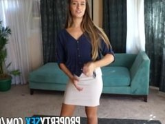 PropertySex - Real estate agent desperate to sell house fucks on camera