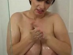 Josephine James masturbates in the Shower