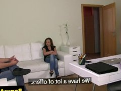 Auditioning mature skank banged at casting