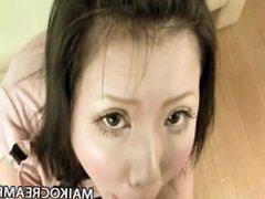 Aya Uchiyama - Pretty JAV Milf Tight Pussy Cum Filled