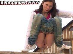 Girl Pissing Ramp HD Video