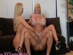 Karen Fisher and Kayla Keelvage Big Tit Threesome
