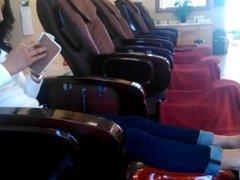 ticklish foot massage