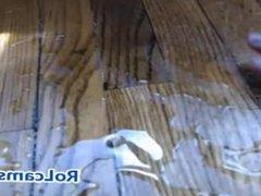 Deep dildo riding on webcam