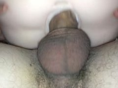 Watching some porn and fucking my toy
