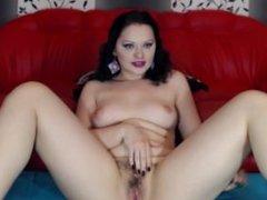 beautiful brunette with amazing green eyes masturbate and hot suck 2