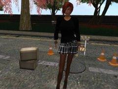 La jolie Venicie en mini jupe kilt