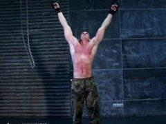 Muscle boy hard flogging